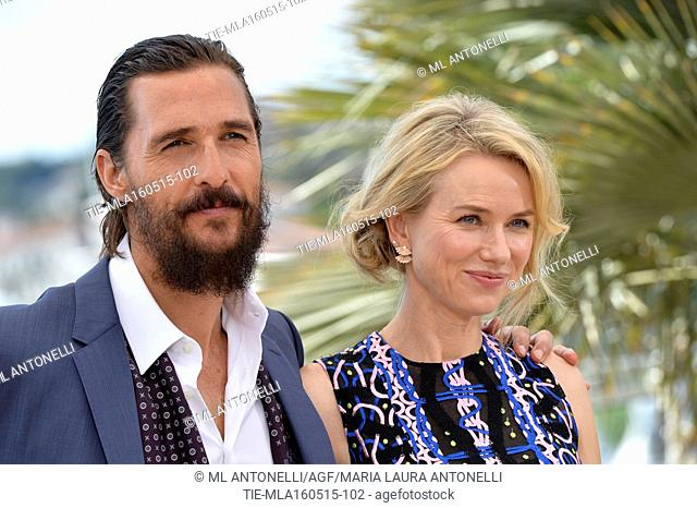 The actor Matthew McConaughey and the actress Naomi Watts . 68 Festival de Cannes, photocall film The sea of trees. Cannes. France 16/05/2015