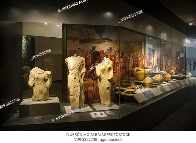 Iberian sculpture, Cerrillo Blanco archaeological site at Porcuna. The Iberian Museum. Jaén, southern Andalusia. Spain Europe