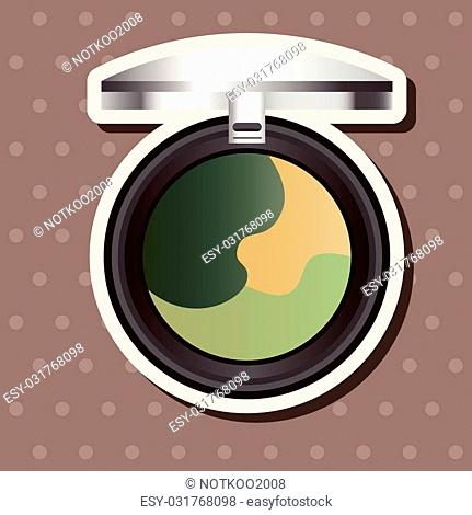 cosmetics theme elements vector,eps
