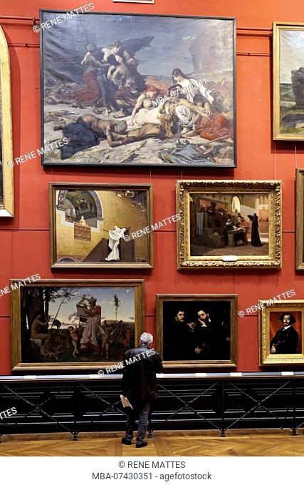 France, Haute Garonne, Toulouse, Augustins museum in the former Augustins convent, Red hall, paintings of the 19th century