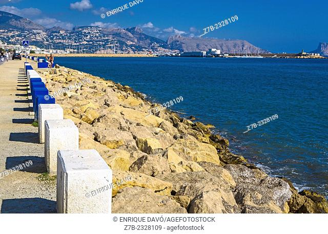 Some post between Albir and Altea beach, Alicante province, Spain