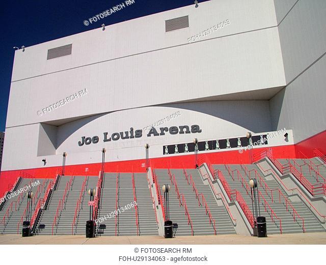 Detroit, MI, Michigan, Motor City, Downtown, Joe Louis Arena, NHL, Hockey, Red Wings