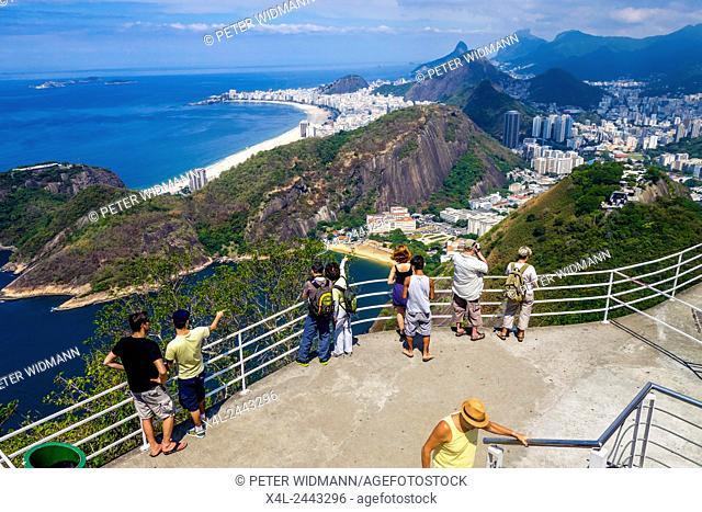 Pao de Acucar, Zuckerhut, Sugarloaf, Blick auf Copacapana, Rio de Janiero, Brasilien
