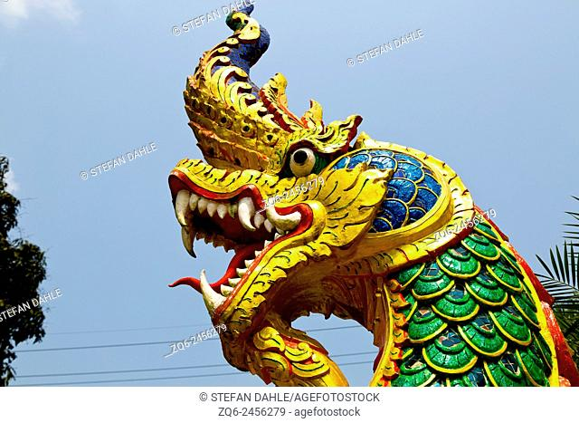 Dragon Statue in the Temple Wat Salakphet on Ko Chang, Thailand