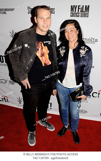 Shepard Fairey and Amanda Fairey arrive for the Premiere Of 'SHOT! The Psycho-Spiritual Mantra of Rock' held at Pacific Theatres in Los Angeles