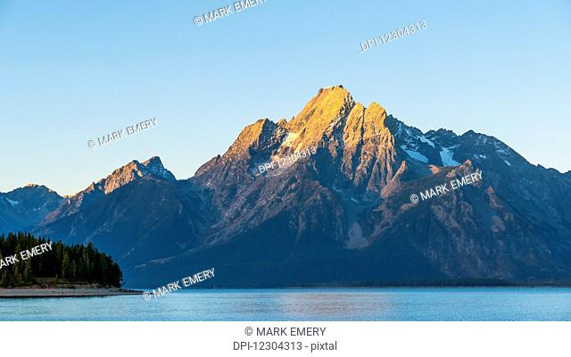 Grand Teton range and Lake Jackson, Grand Teton National Park; Wyoming, United States of America