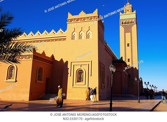 Zagora, Great Mosque, Draa Valley, Souss-Massa-Draa region, Morocco, Maghreb, North Africa