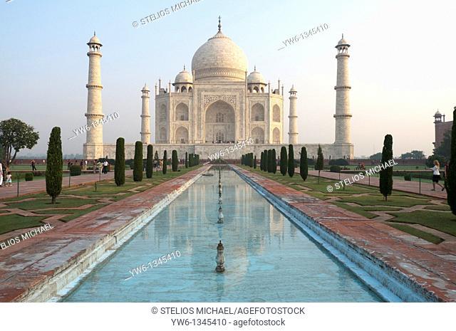 The Taj Mahal in Agra,India