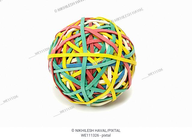 Rubberband ball elastic band