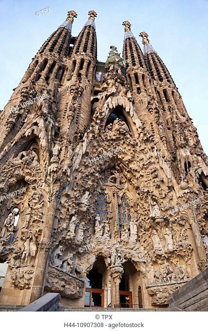 Europe, Spain, Barcelona, Sagrada Familia, Gaudi, UNESCO, UNESCO World Heritage Sites, Tourism, Travel, Holiday, Vacation