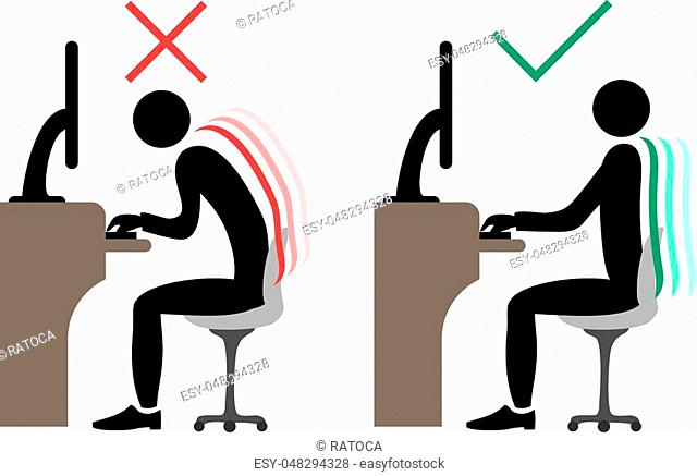 Creative design of correct office back sitting