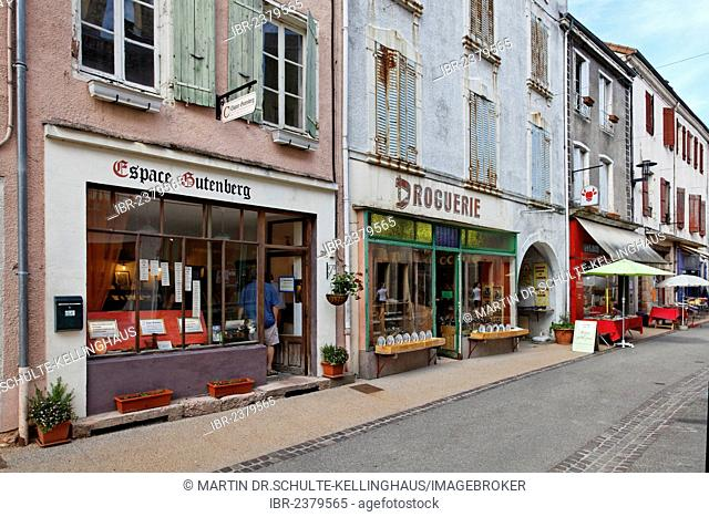 Book village of Cuisery with 15 antique bookstores, Tournus, Burgundy region, department of Saône-et-Loire, France, Europe