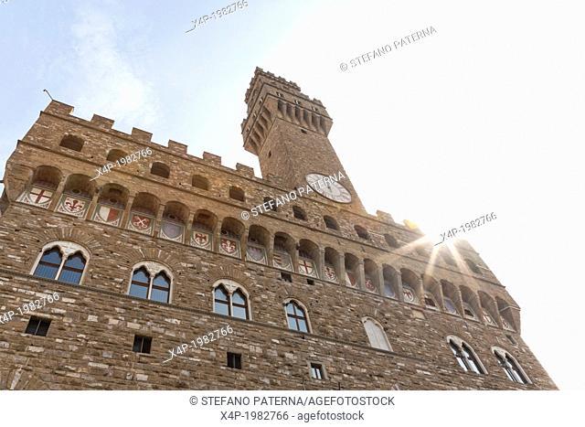 Palazzo Vecchio, Piazza della Signoria, Florence, Tuscany, Italy