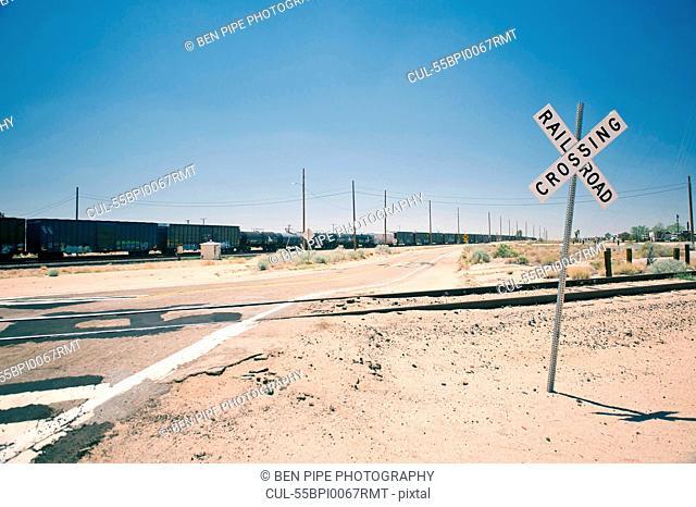 Railroad crossing, California, USA