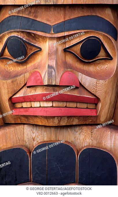 Totem pole, Semiahmoo Park, White River, British Columbia, Canada