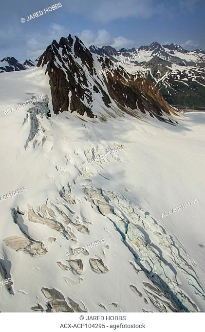 Glacier creek, Icefields, Porcupine Creek, Tundra, USA, Alaskan alpine