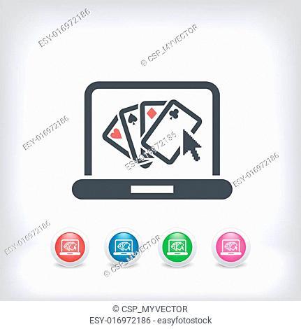 Poker website symbol icon