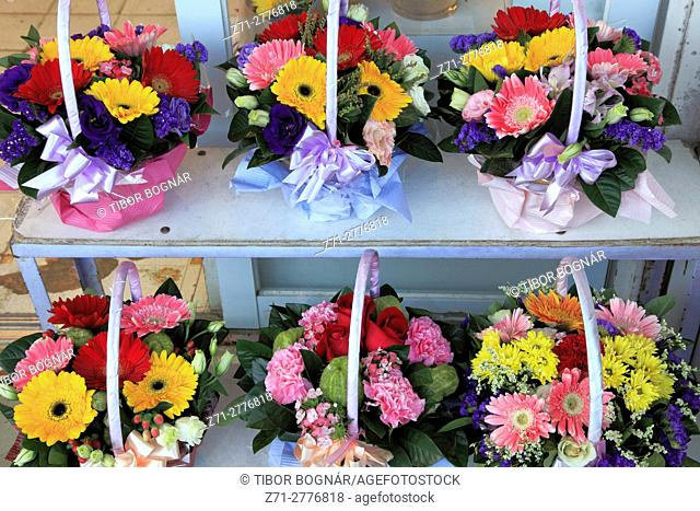 China, Hong Kong, Kowloon, Flower Market, flowers,