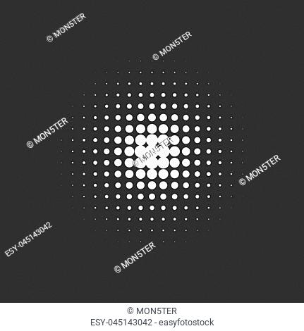 Dotted abstract form. Vector illustration