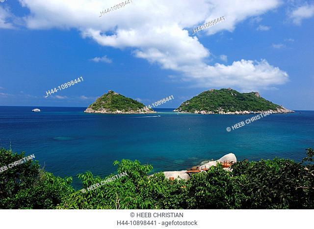 view, Dusit Buncha, Resort, Nang Yuan, Island, Koh Tao, Thailand, Asia, sea