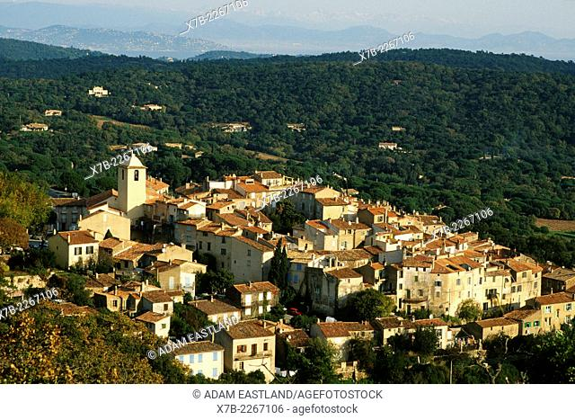 France. Ramatuelle. View of village