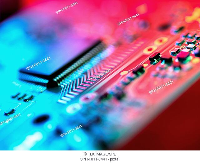 Circuit Board. Used to connect electrical components to form a circuit