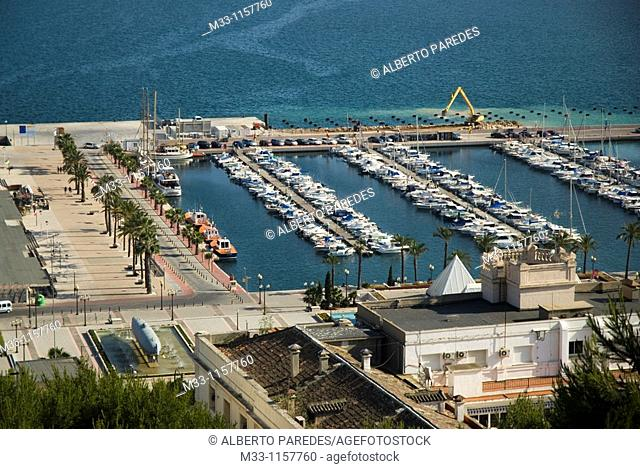 Marina from Concepcion Castle CARTAGENA CITY Murcia region Spain