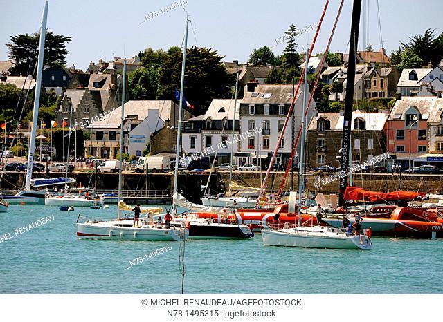 Port, river Crac'h, La Trinité-sur-Mer, Morbihan, Brittany, France