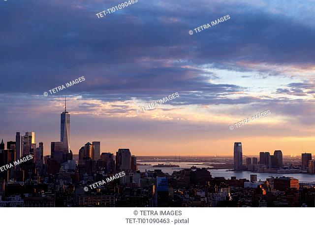 Cityscape of New York with view of One World Trade Centre