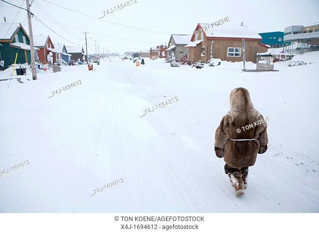 Portrait of an Â'EskimoÂ' Gojahaven is a town in the far north of canada where 1000 IInuits are living