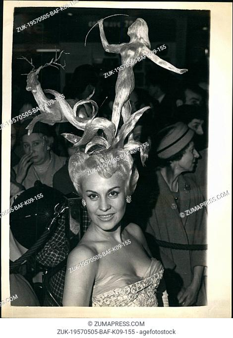 May 05, 1957 - National festival of hairdressing competition. The national festival of hairdressing exhibition, is being held at the new horticultural hall