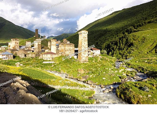 Ushguli, the highest permanently inhabited village in Europe. Svaneti, Georgia