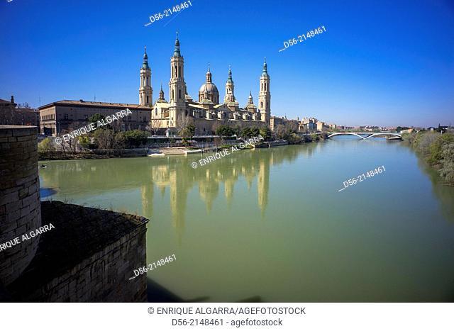 El Pilar and Ebro River, Zaragoza, Spain