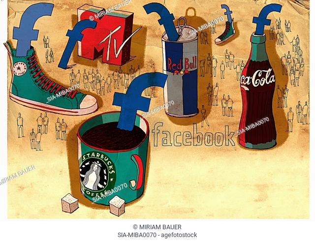 View of common brands