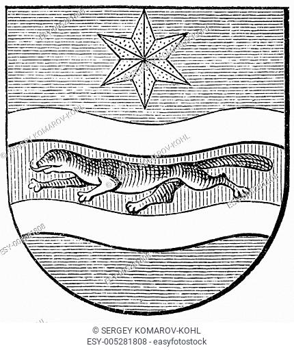 Coat of arms of Slavonia, Austro-Hungarian Monarchy