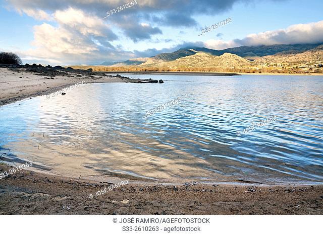 Santillana reservoir in Manzanares el Real. Madrid. Spain. Europe