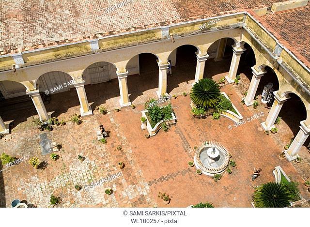 Courtyard inside the Museum of Colonial Architecture (Museo de Arquitectura Colonial), Trinidad, Sancti Spiritus, Cuba