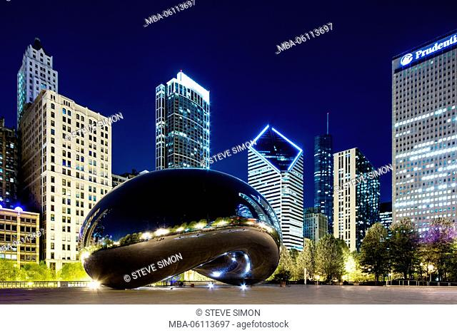 Cloud Gate, The Big Bean at night, Chicago