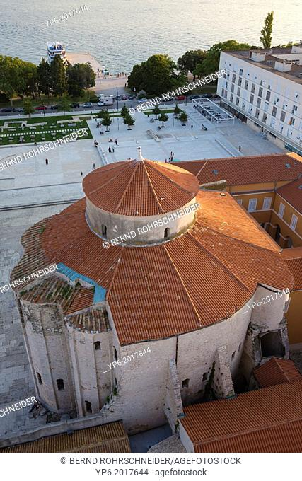 Sv Donat with Roman forum from above, Zadar, Croatia