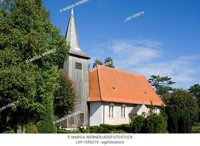 Seamen's church from 1673 in Arnis, the smallest city in Germany