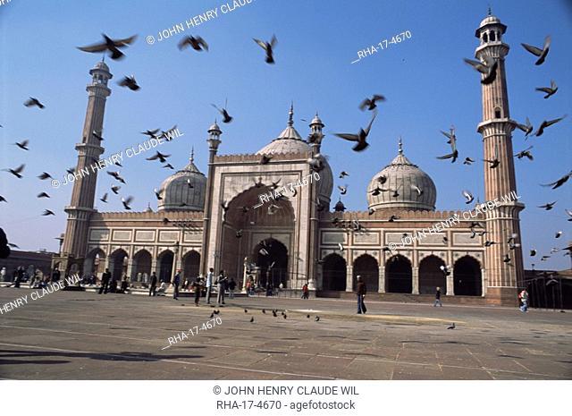 The Jama Masjid Friday Mosque, Old Delhi, Delhi, India, Asia