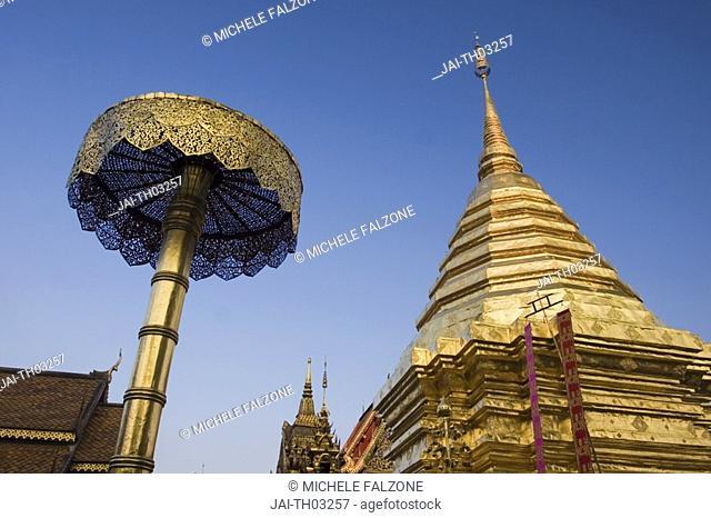 Wat Phrathat Doi Suthep, Central Chedi & Gold Umbrella, Chiang Mai, Thailand