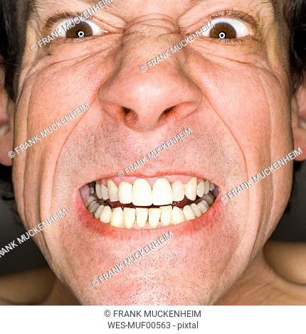 Man's face, portrait, close-up