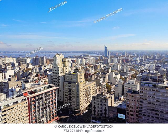 Uruguay, Montevideo, Cityscape viewed from the City Hall(Intendencia de Montevideo)