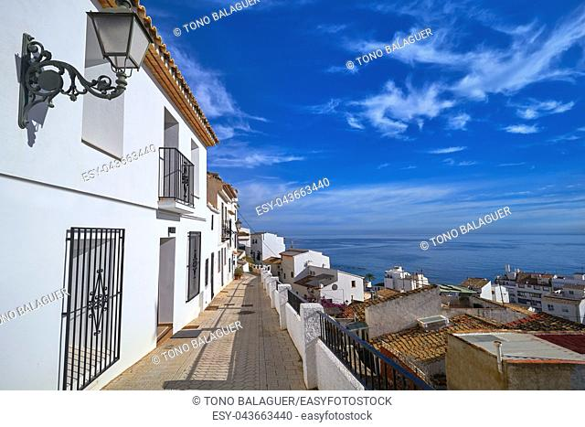 Altea white village in Alicante at Mediterranean Spain