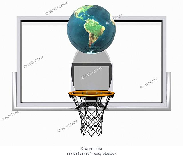 3d basketball isolated on a white background