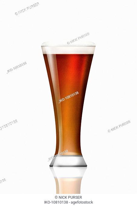 Beer glass of bitter beer