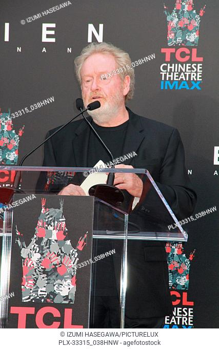 Ridley Scott 05/17/2017 Sir Ridley Scott Hand and Footprint Ceremony held at the TCL Chinese Theater in Los Angeles, CA Photo by Izumi Hasegawa / HNW /...