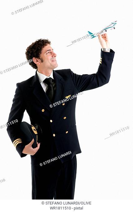 Portrait of airline pilot