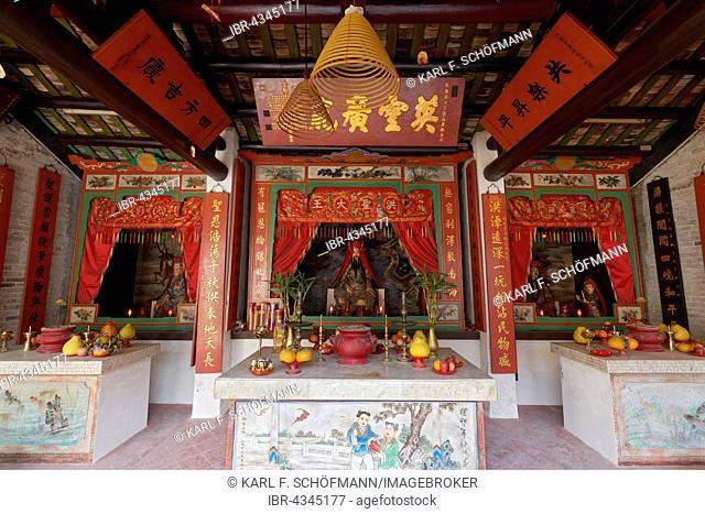 Hung Shing or Tai Wong Temple, Ping Shan Heritage Trail, Hang Mei Tsuen, Yuen Long District, New Territories, Hong Kong, China